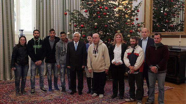 Ελλάδα: Την Παγκόσμια Πρωταθλήτρια Εθνική ομάδα αστέγων δέχθηκε ο Πρόεδρος της Δημοκρατίας