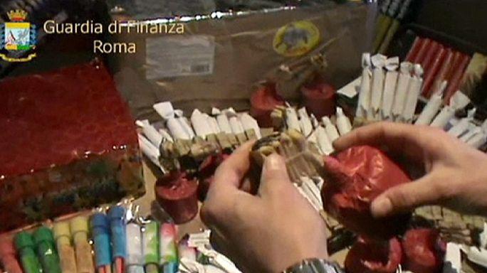 Италия: полиция конфисковала тонны пиротехнических изделий