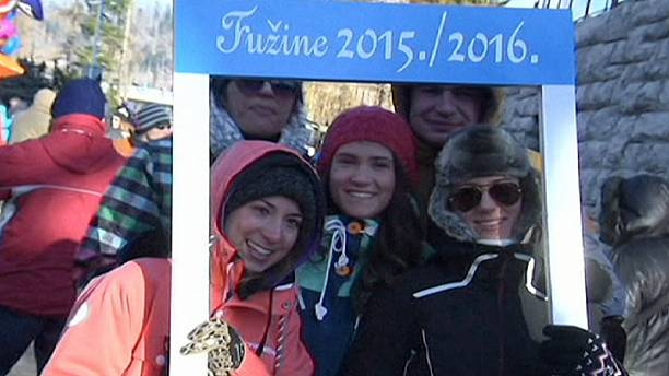 New Year at noon in Fuzine Croatia