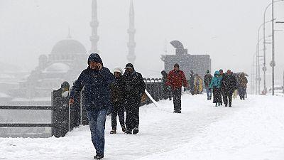 Nieve en Estambul por Nochevieja