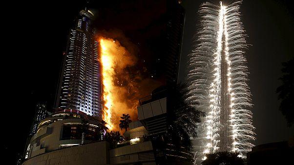 Пожар в небоскребе в Дубае: по меньшей мере погиб один человек