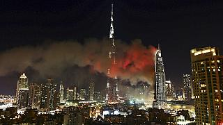 Dubai luxury hotel engulfed in flames