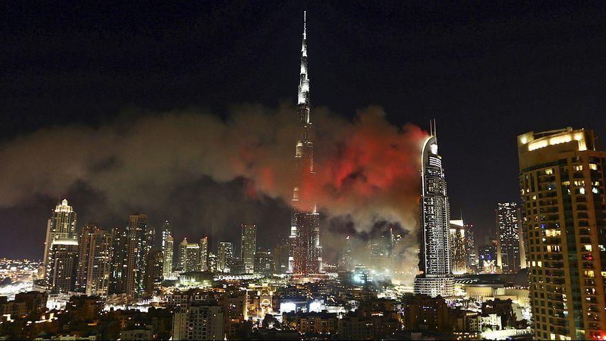 Дубайский отель в огне