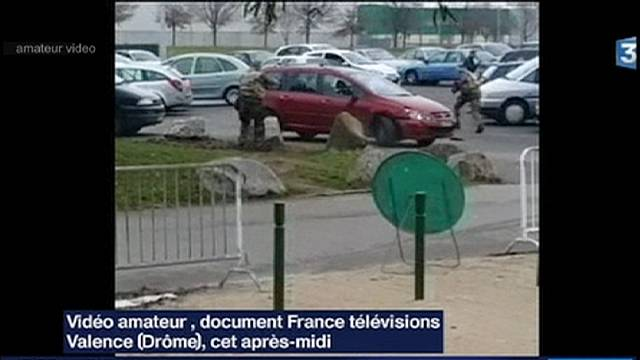 Car drives at soldiers on guard outside Mosque in southern France