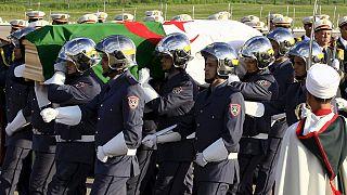 Multitudinario entierro de uno de los padres de la independencia argelina