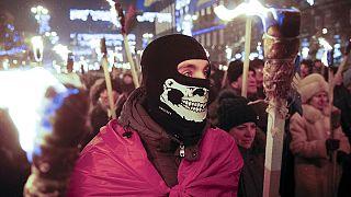 Ukraynalı milliyetçiler Stepan Bandera için yürüdü