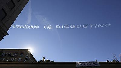 Trump targeted in Rose Parade skywriting protest