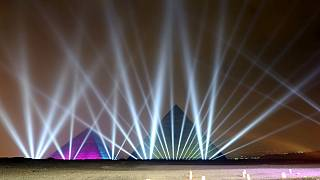 Egypt: Pyramids light up for New Year