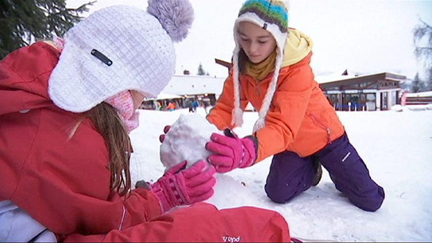 A neve chega, enfim, aos Alpes!