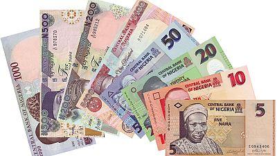 Nigeria's Naira down 10 per cent in 2015