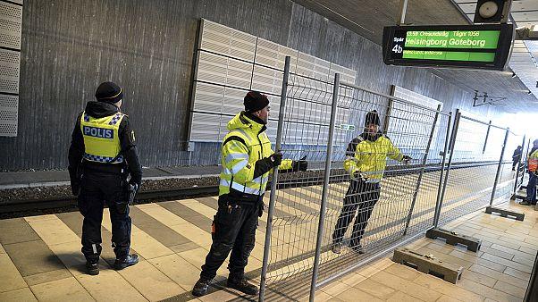İsveç-Danimarka sınırına tel örgü