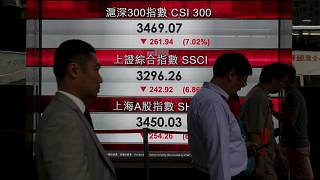 Trading halted as Chinese stock markets tumble