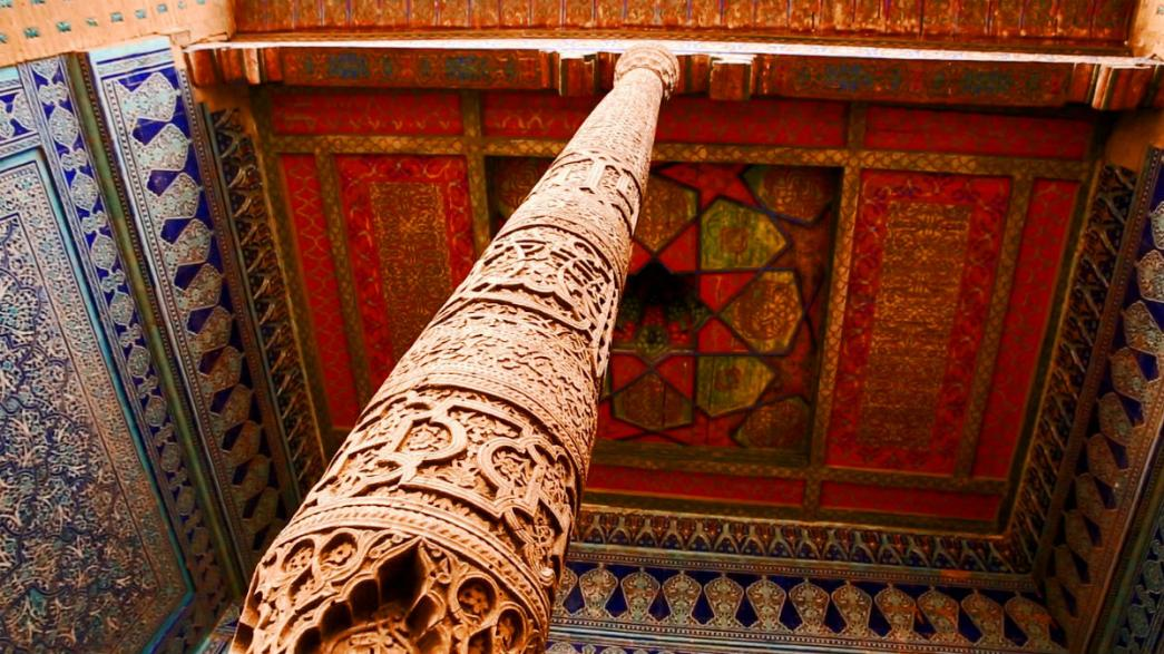 A peek inside a Khiva palace, a labyrinth of rooms and courtyards