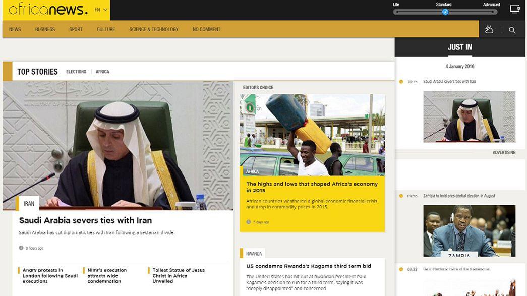 Parte Africanews, canale gemello di Euronews, fatto in Africa, per l'Africa e gli africani