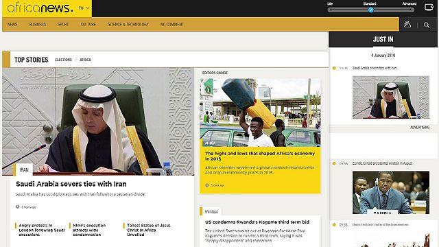 Euronews'un kardeş kanalı africanews.com yayında