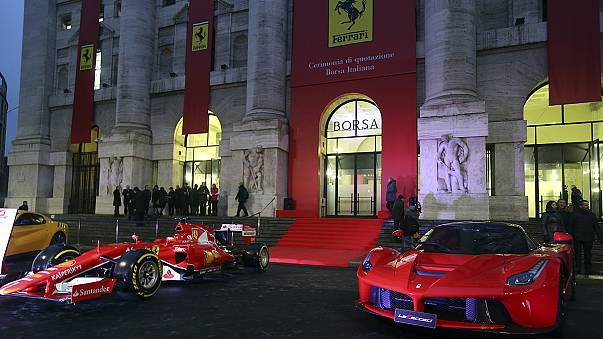 Ferrari an der Börse Mailand - mit angezogener Handbremse