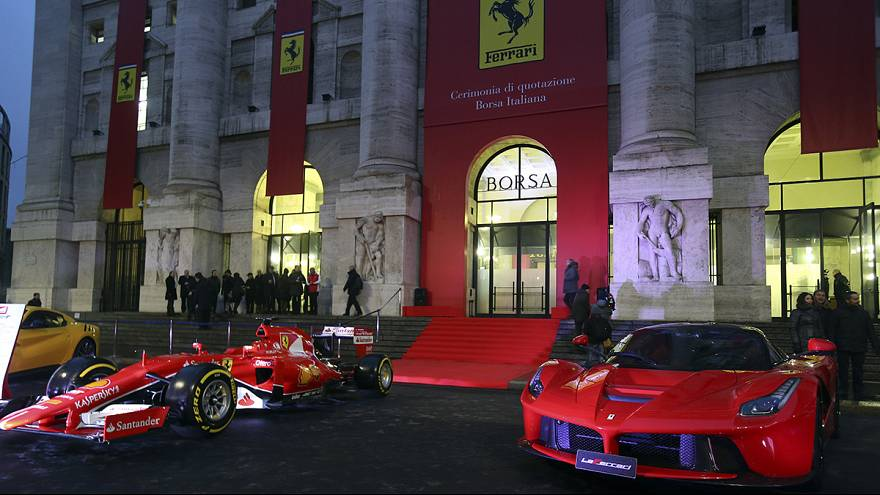 Ferrari debuts on the Milan stock market