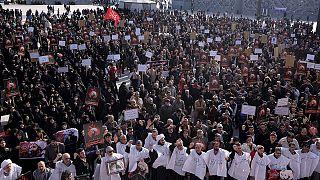 Cientos de iraníes se manifestaron en Teherán en un acto de repulsa contra la familia real saudí