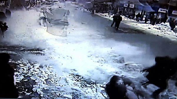 Két sérült a török havazásban