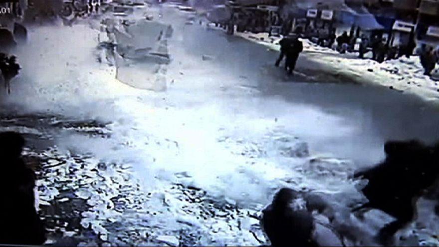 Turquie : une impressionnante chute de neige blesse deux personnes