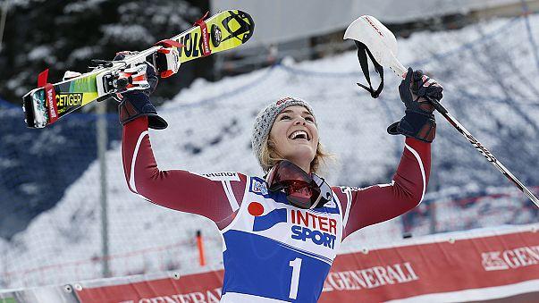 Nina Loeseth consigue el oro en eslalon en Santa Caterina