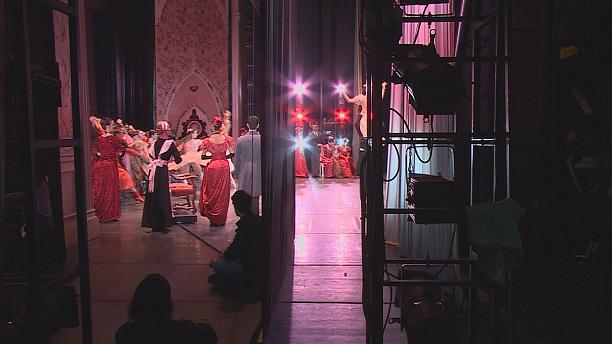 Backstage at Naples' Teatro San Carlo