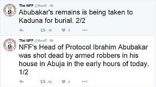 Nigeria football official shot dead