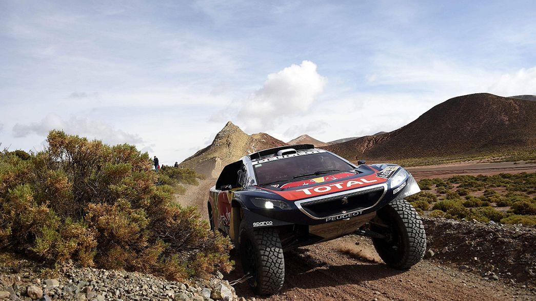 Loeb bleibt bei Rallye Dakar in Führung