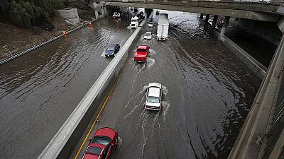 El Niño-strengthened storm brings flash flooding to drought-stricken California