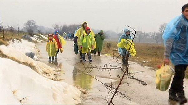 سرمای زمستان در مسیر پناهجویان