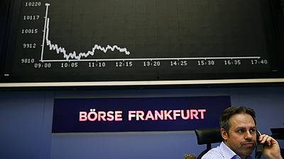 European shares fall sharply as China accelerates depreciation of the yuan