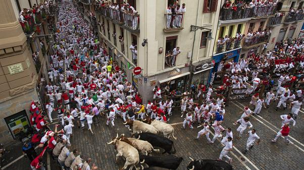 Image: Day 2 - San Fermin Running of the Bulls 2018