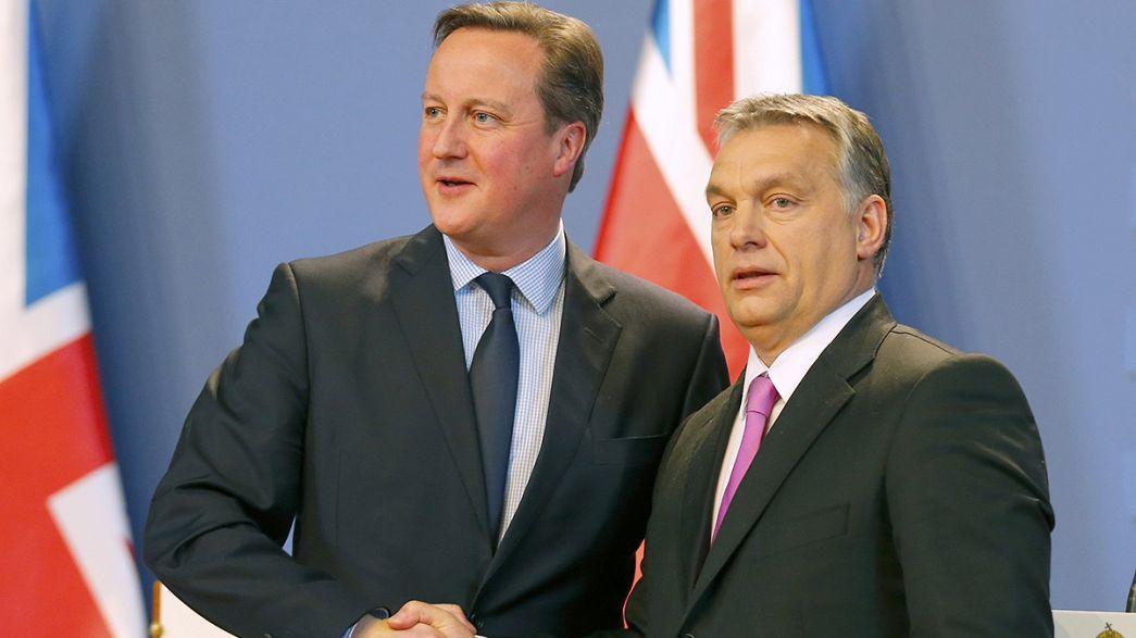 """""""Não vamos parasitar a Grã-Bretanha"""", diz Orban a Cameron"""