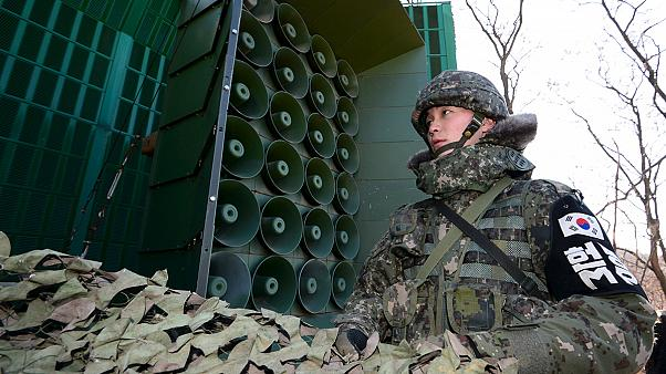 South Korea resumes propaganda broadcasts into the North