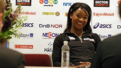 A l'entraînement avec Ezinne Okparaebo