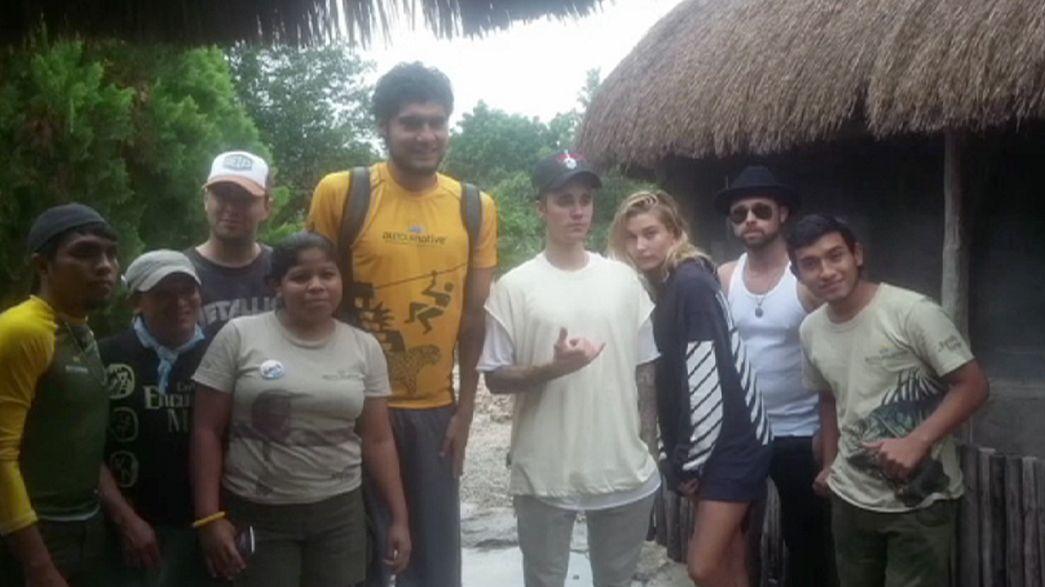 Bieber, expulsado de las ruinas mayas de Tulum en México