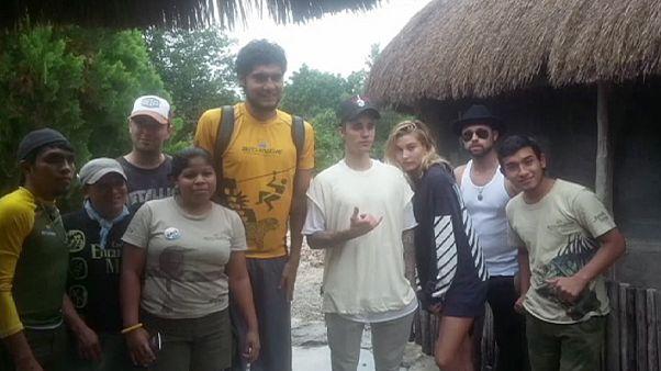 المغني الكندي جاستين بيبر يُطرَد من موقع أثري في المكسيك