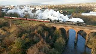 Steaming back. The Flying Scotsman returns