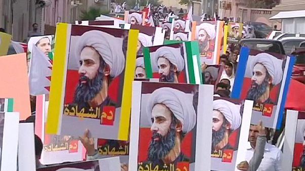 Антисаудовские протесты в Бахрейне после казни Нимра ан-Нимра