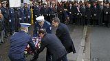 Paris'te terör kurbanı kadın polis memuru anıldı