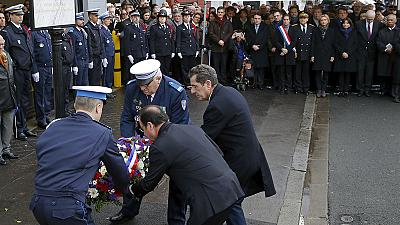 Homenaje a la policía municipal asesinada hace un año en Montrouge en los tres días que sumieron a Francia en el terror