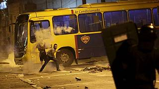 Violent protests erupt in Brazil over transport fares