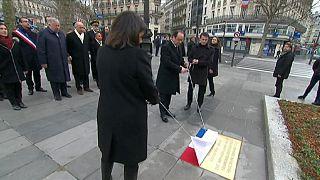 Francia rinde tributo a todas las víctimas de los atentados ocurridos el año pasado en París