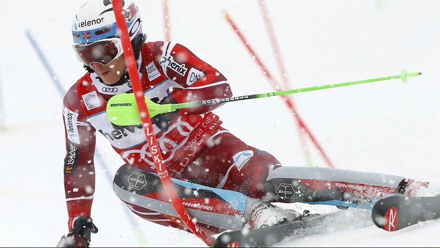 Kristoffersen edges Hirscher to clinch World Cup slalom