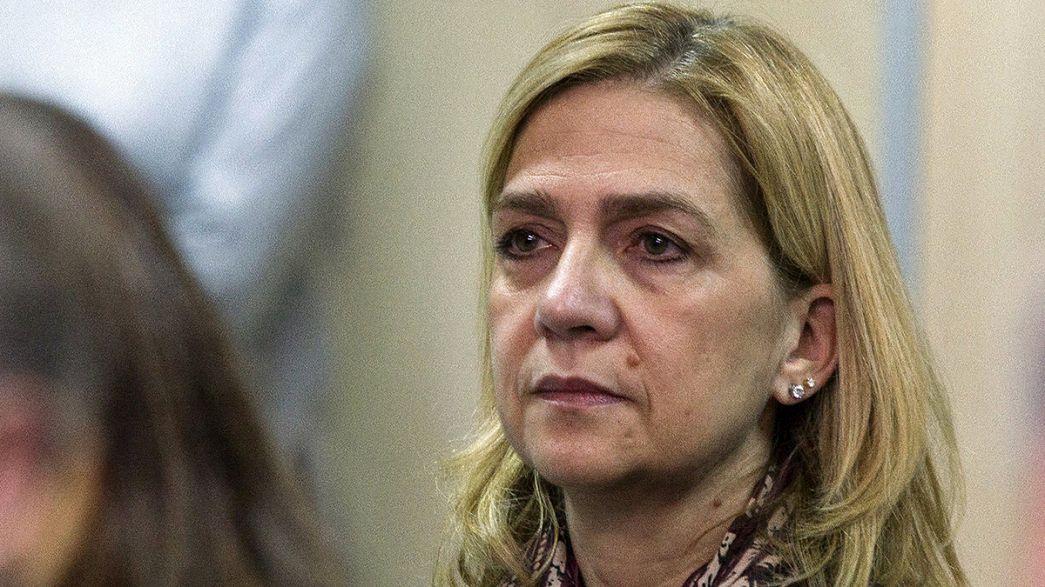 Processo real espanhol: Infanta Cristina já está no banco dos réus