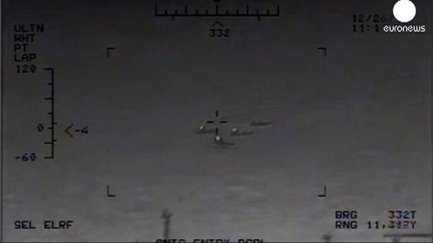 """Material desclasificado: un barco de guerra iraní """"dispara cohetes no guiados a escasos metros de un buque estadounidense"""""""