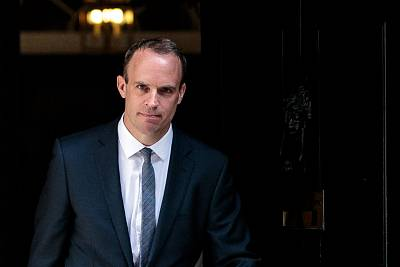 Dominic Raab will take over as Britain\'s Brexit secretary.