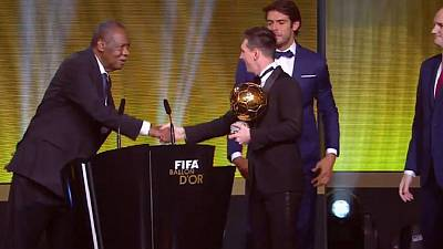 Messi wins fifth Ballon d'Or