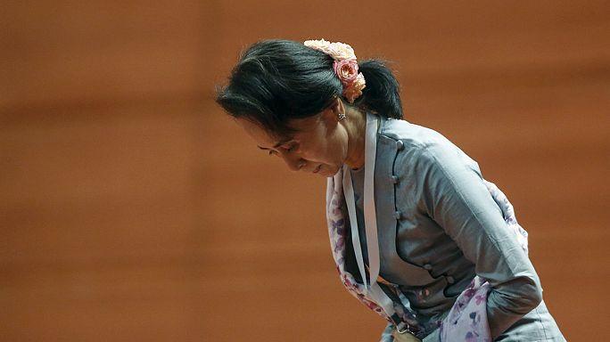 Мьянма: Сан Су Чжи призывает к мирному диалогу