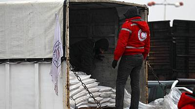 Aid convoys reach starving Syria towns